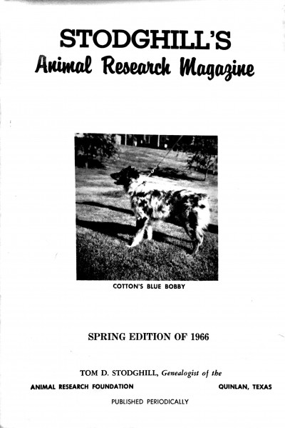 1966 Spring Issue Cover